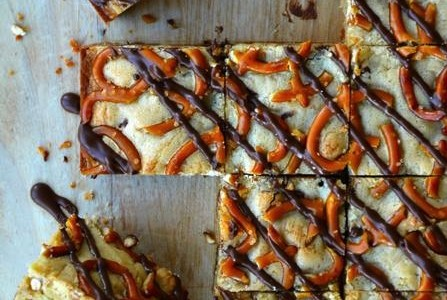 Pretzel Chocolate Chip Cookie Bars