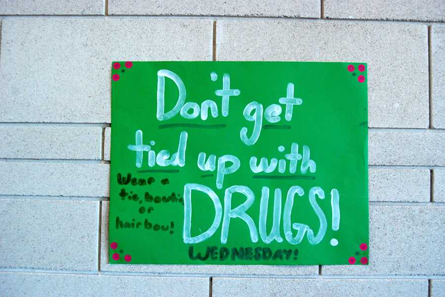 Middle School students celebrated Red Ribbon Week with a different theme each day.