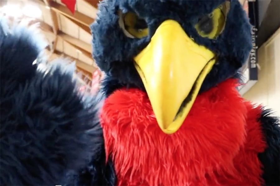 Austin+Holcomb+%2720+as+the+Falcon+welcomes+all+to+Convocation.