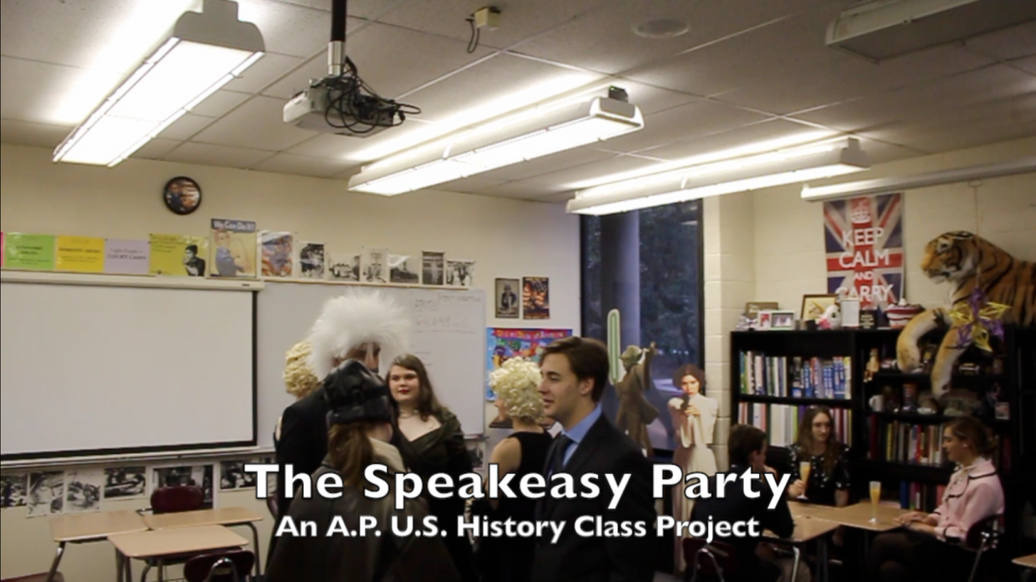 APUSH students participated in the annual Speakeasy as part of their study of the 1920s.