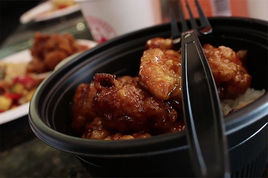 Orange chicken is a favorite at both Pei Wei and Panda Express.
