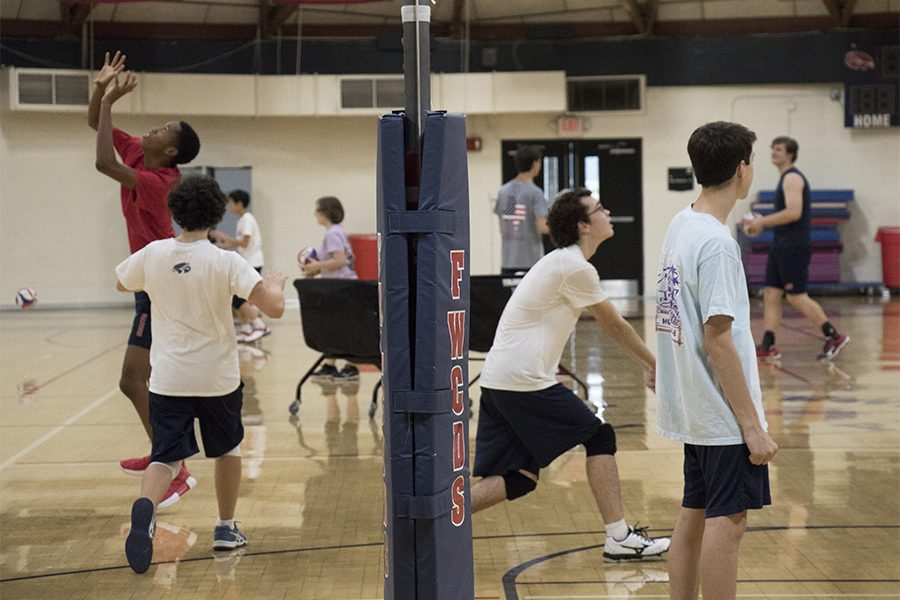 The+FWCD+boys+volleyball+team+spends+time+practicing+their+skills+after+school.