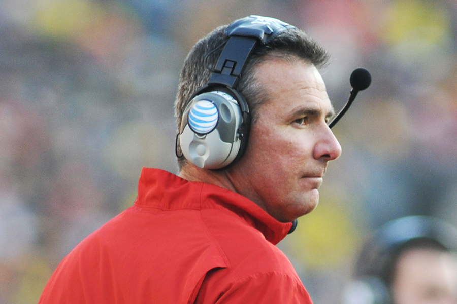 Ohio State's head coach Urban Meyer was suspended for three games this season.