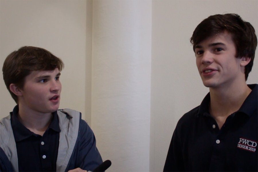 Ben Dike '19 asks Sean Nolan '19 about his opinion on midterms.