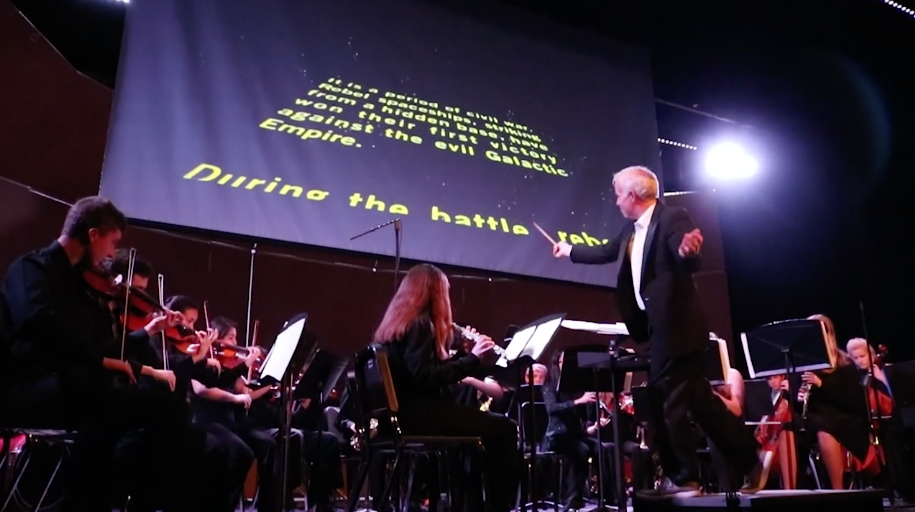 US band and orchestra played a variety of movie scores at their winter concert.