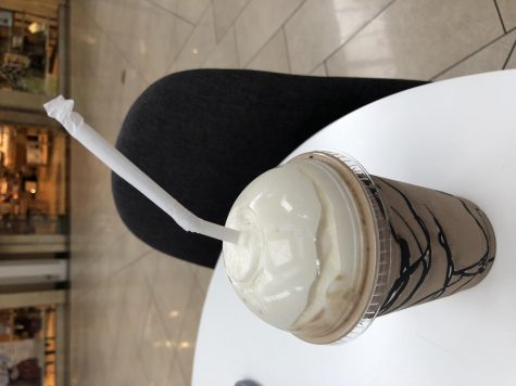 Rasberry Chocolate frappe from Society Coffee. Photo by Isabella Vallance