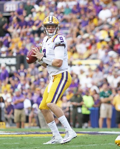 Joe Burrow (projected number 1 overall pick), SELU vs LSU at Tiger Stadium, September 8, 2018.
