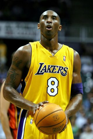 Kobe Bryant, Lakers shooting guard, stands ready to shoot a free throw during a pre-season game against the Golden State Warriors in 2005. Bryant was essential in bringing together a large point gap late in the second quarter, after the Warriors took the early lead.