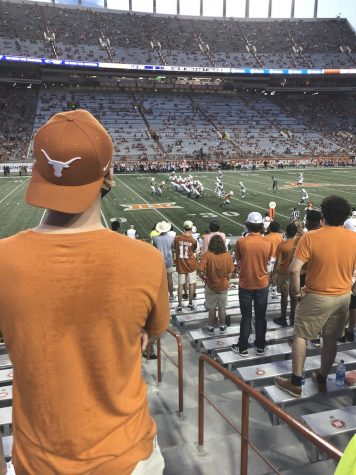 UT students look on during the first quarter of a game against UTEP on Sep. 12.