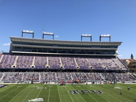 TCU football stadium was at 25% capacity during the TCU vs. Iowa State game on Sept. 26.