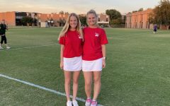 Coach Caroline Moock and Coach Devon Loth 12 after a game at FWCD. Photo by Paige Chisholm 87